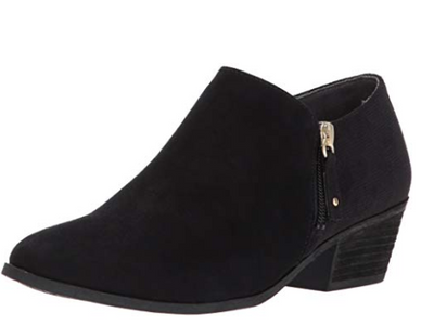 Dr. Scholl's Brief Black Suede Ankle Boots - VendaStores