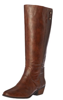 Dr. Scholl's Women's Brilliance Wide Calf Riding Boot Whiskey | 6.5M US - VendaStores