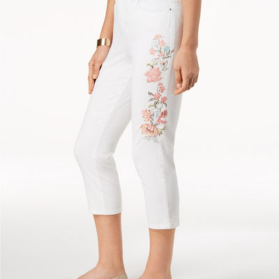 Charter Club Bristol Embroidered Capri Jeans - VendaStores