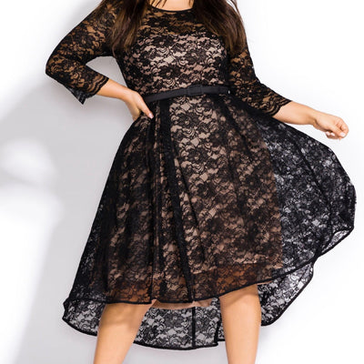 City Chic Women's Plus Size 14W 16W Lace Lover Dress - VendaStores