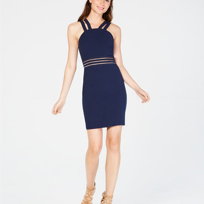 City Studios Juniors' Double-Strap Bodycon Dress - VendaStores