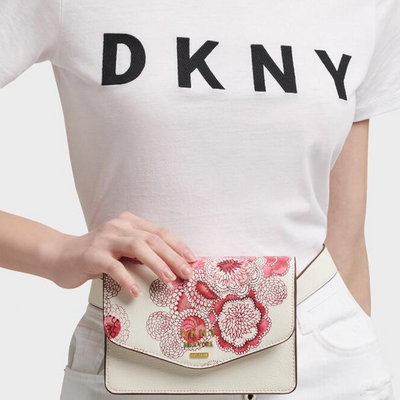 DKNY Whitney Floral Belt Bag in White - VendaStores
