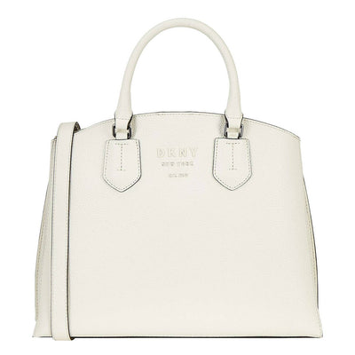DKNY Noho Large Satchel in White - VendaStores