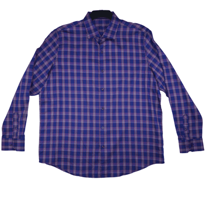 Tasso Elba Plaid Long Sleeve Shirt