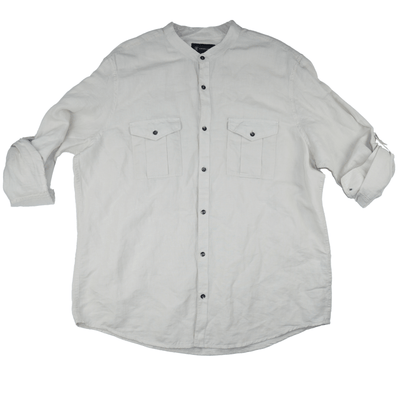 INC Long Sleeve Casual Linen Shirt - VendaStores