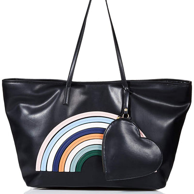 Dear Drew by Drew Barrymore Go Petit Vegan Leather Rainbow Tote Bag - VendaStores