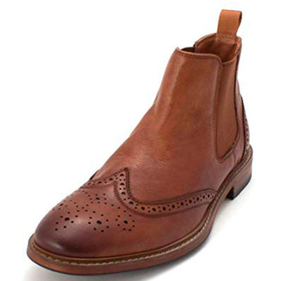 Florsheim Men's Streets Wingtip Leather Closed-Toe Boots - VendaStores
