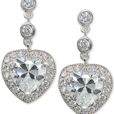 Giani Bernini Cubic Zirconia Heart Drop Earrings - VendaStores