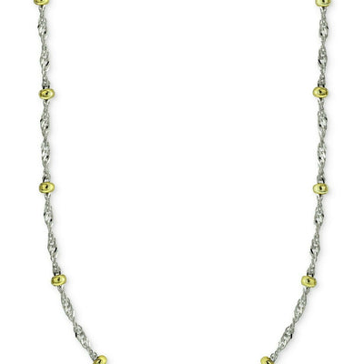 "Giani Bernini 20"" Beaded Singapore Chain Necklaces in Sterling Silver & 18k Gold-Plate - VendaStores"