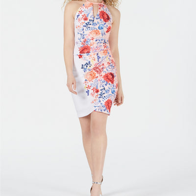 GUESS Keyhole Floral-Print Dress - VendaStores