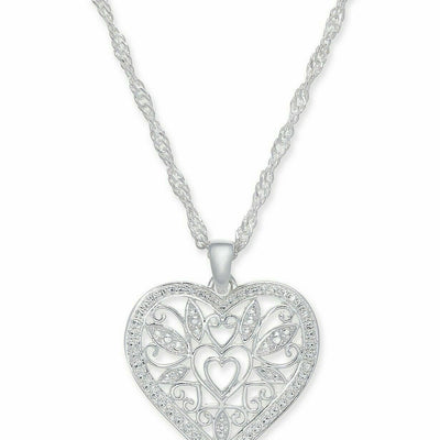 Giani Bernini Filigree Heart Pendant Necklace in Sterling Silver - VendaStores