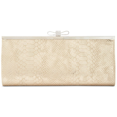 I.N.C. Carolyn Gold Exotic Clutch - VendaStores