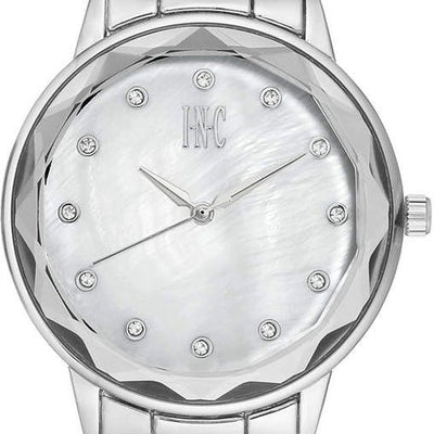 INC International Concepts Womens Bracelet Watch 36mm Silver - VendaStores
