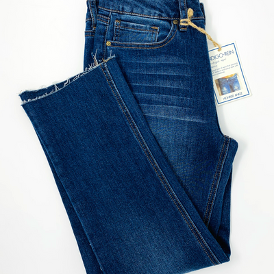 Indigo Rein Juniors' Rigid Ripped Straight-Leg Jeans - VendaStores