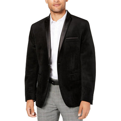 I.N.C. Men's Large Black Classic Fit Max Velvet Blazer, MSRP C $179 - VendaStores