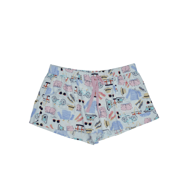 Jane Bleecker Printed Pull On Shorts - VendaStores
