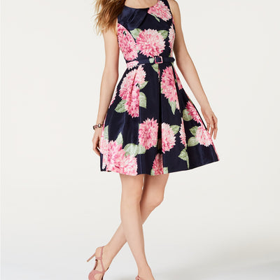 Jessica Howard Floral-Print Fit & Flare Dress - VendaStores