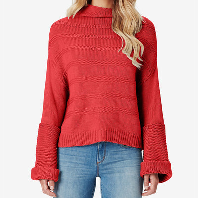 Jessica Simpson Juniors' Connie Ribbed Cuffed Sweater - VendaStores