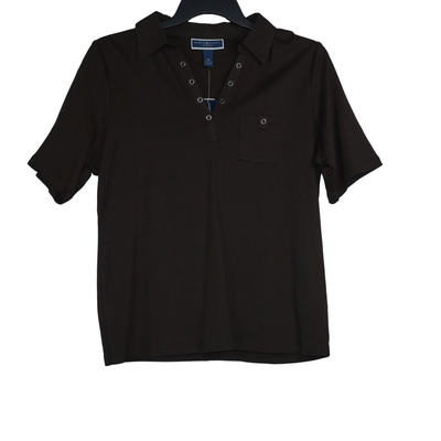 Karen Scott Plus Size 0X Grommet Polo Shirt - VendaStores