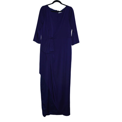 Kay Unger 3/4-Sleeve Side Ruched Gown - VendaStores