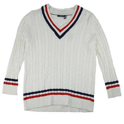 Lauren Ralph Lauren Cable-Knit Cricket Sweater Cream 1X NWT - VendaStores