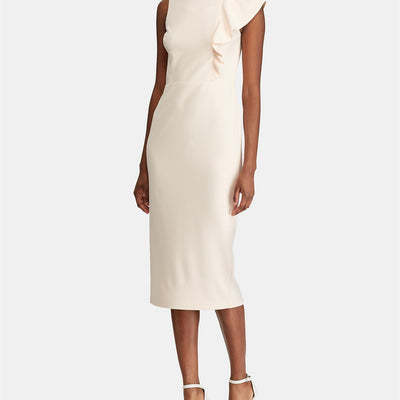Lauren Ralph Lauren Ruffle-Trim Crepe Dress - VendaStores