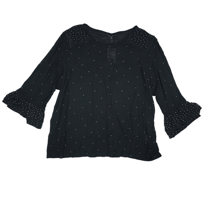 Lucky Brand Women's Polka Dot Bell-Sleeve Blouse - VendaStores