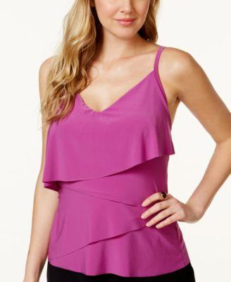 Magicsuit Chloe Tiered Tankini Top Orchid Purple 10 - VendaStores