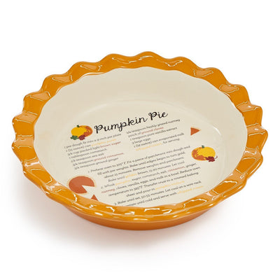 Martha Stewart Collection Ceramic Pumpkin Pie Dish - VendaStores
