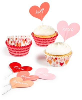 Martha Stewart Collection Heart Cupcake Liners Toppers - VendaStores