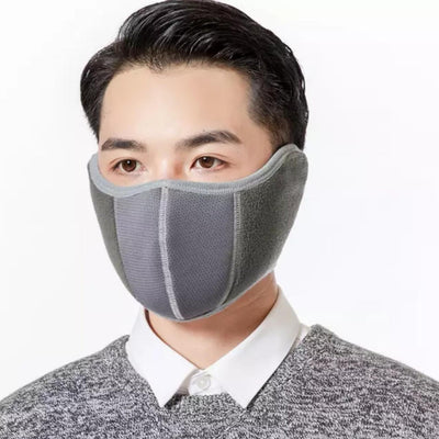 Ear Muff Face Mask Winter Mask 2 in 1 Breathable Adjustable Washable - VendaStores