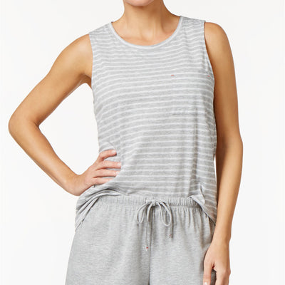 Nautica Striped Pajama Tank Top - VendaStores
