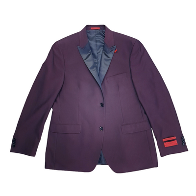 Alfani Men's Slim-Fit Size 44 Reg Burgundy Mini-Grid Dinner Jacket, MSRP C $384 - VendaStores
