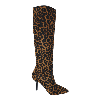 Michael Kors Katerina Womens Size 5, Color Butterscotch, Leopard Print Knee-High Boots, MSRP $413 - VendaStores