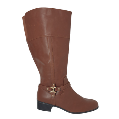 NWD Charter Club Womens Color Brown, Size 10.5 Helenn Faux Leather Tall Riding Boots MSRP $139.3 - VendaStores