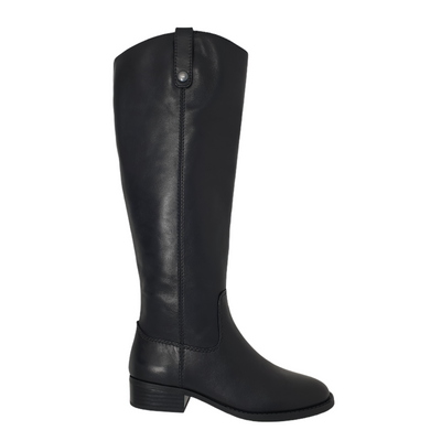 INC Fawne Womens Size 5 Black Leather Closed Toe Boots, MSRP $252 - VendaStores