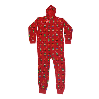 Family Christmas Pajamas Matching Womens XL Elf Hooded One-Piece, MSRP $45 - VendaStores