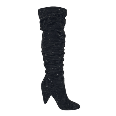 INC Womens Black Size 5.5 Gerii Slouch Boot, MSRP $237 - VendaStores