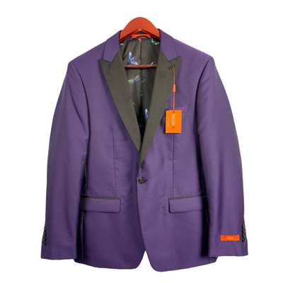Tallia Orange Men's Slim-Fit Purple Size 42 Regular Medallion Dinner Jacket, MSRP C $450 - VendaStores
