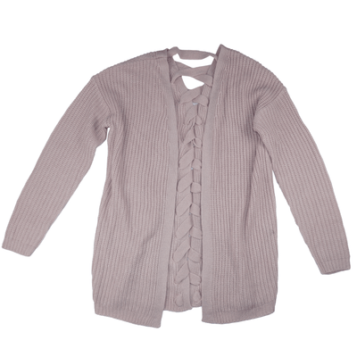 Planet Gold Juniors' Chunky Lace-Up Cardigan - VendaStores