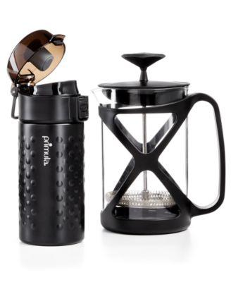 Primula Coffee Brew & Go Set - 12oz. Thermal Tumbler and 6 Cup Coffee Press - VendaStores