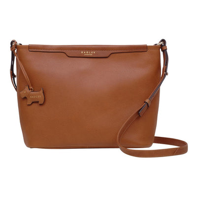 Radley London Patcham Place Medium Tan Zip-Top Leather Cross Body Bag, MSRP $ 270 - VendaStores