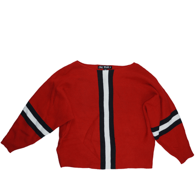 Say What? Juniors' Ribbed Striped Sweater - VendaStores