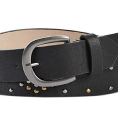 INC International Concepts Studded Pant Belt Black S - VendaStores