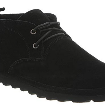 BEARPAW Mens Black Size 9 Spencer Chukka Boots - VendaStores