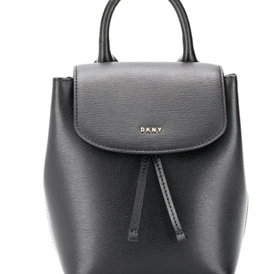 DKNY Lex Leather Backpack in Black - VendaStores