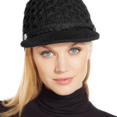 Calvin Klein Honeycomb Cable Newsboy Hat - VendaStores