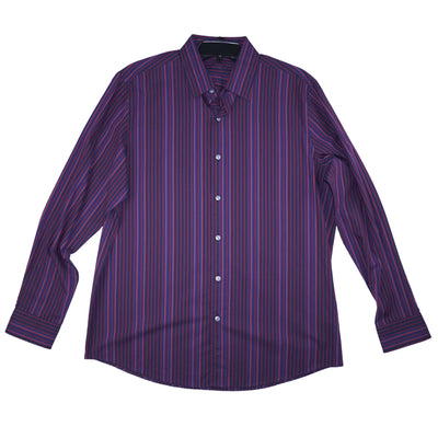 Tasso Elba Men's Stretch Stripe-Print Shirt - VendaStores