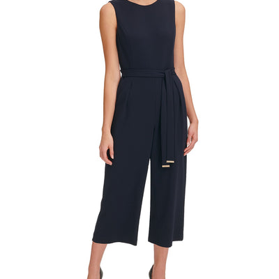 Tommy Hilfiger Belted Cropped Jumpsuit - VendaStores