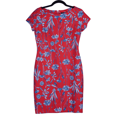 Tommy Hilfiger Floral Sheath Dress with Cap Sleeves - VendaStores